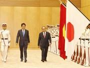 La cérémonie d'accueil officielle du Premier ministre Nguyen Xuan Phuc à Tokyo