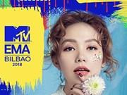 """Minh Hang nominée l'""""Artiste de l'Asie du Sud-Est"""" à MTV EMA 2018"""