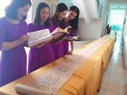 Réception du certificat de l'UNESCO concernant « Hoàng Hoa Sứ Trình Đồ »