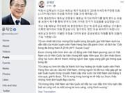 AFF Suzuki Cup 2018: félicitations du président sud-coréen au Vietnam