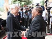 Les activités du secrétaire général du PCV et président Nguyen Phu Trong au Cambodge