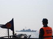 La Garde-côte vietnamienne inspecte la zone de pêche commune du golfe du Bac Bô