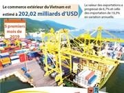 Le commerce extérieur du Vietnam est estimé à 202,02 milliards d'USD