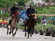 """La course hippique """"Sabots de chevaux dans les nuages"""" à Lao Cai"""