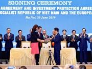 Le Vietnam et l'UE signent les accords de libre-échange et de protection des investissements
