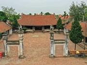 L'architecture originale de l'ancien temple de Mong Phu, à Hanoï