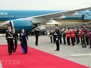 La présidente de l'AN vietnamienne Nguyen Thi Kim Ngan est arrivée à Séoul