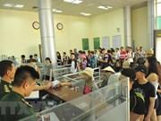 Têt : le poste frontalier de Mong Cai accueille plus de 18.000 touristes étrangers