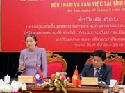 La présidente de l'AN laotienne en visite de travail à Lam Dong