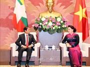 Entrevue entre la présidente de l'AN vietnamienne et le président birman