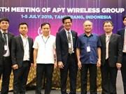 Le Vietnam assume la présidence de la 25e réunion du Groupe sans fil de l'APT