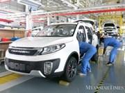 Une joint-venture Chine-Myanmar sort sa première voiture assemblée au Myanmar