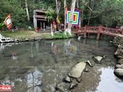 Le ruisseau aux poissons du village de Ngoc