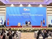 Cérémonie de la signature de l'accord de Partenariat économique global régional (RCEP)
