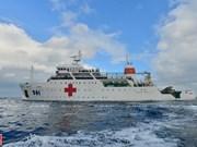 Le navire-hôpital HQ 561 en Mer Orientale