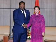 La présidente l'Assemblée nationale reçoit le secrétaire général de l'UIP