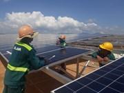 Le premier projet d'électricité solaire à Ninh Thuan raccordé au réseau national