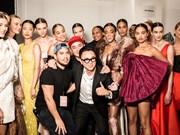 Le styliste Cong Tri présent à la New York Fashion Week