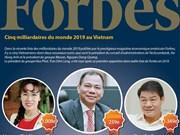 Cinq milliardaires du monde 2019 au Vietnam