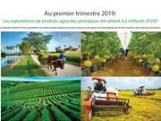 Les exportations de produits agricoles principaux ont atteint 4,2 milliards d'USD au 1er trimestre