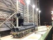 Le premier lot d'acier du complexe Hoa Phat Dung Quat exporté au Japon