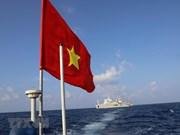 Le drapeau national sacré sur l'archipel de Truong Sa