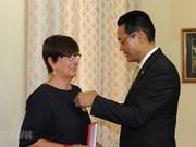 L'ancienne ambassadrice belge au Vietnam à l'honneur