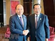 """Forum de """"la Ceinture et la Route"""" : Le PM rencontre son homologue cambodgien"""