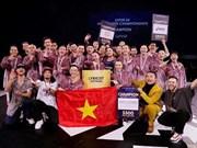 Lyricist couronné au concours de danse d'Asie du Sud-Est