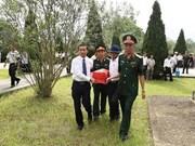 Thanh Hoa : inhumation des restes des volontaires tombés au Laos
