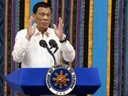 Le président philippin promet de poursuivre la lutte contre les drogues et la corruption