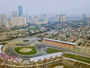 La piste du Championnat du monde de Formule 1 (F1) à Hanoi: Les travaux terminés