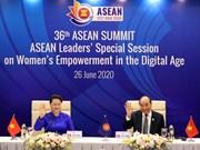 Des dirigeants de l'ASEAN discute de l'autonomisation des femmes à l'ère numérique