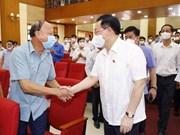Le président de l'Assemblée nationale à l'écoute des électeurs de Hai Phong