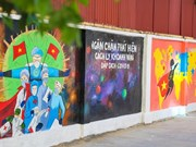 Route murale anti-COVID-19 à Hanoï