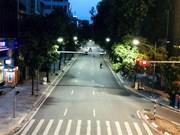 Circulation à Hanoi les premiers jours de l'application de la distanciation sociale
