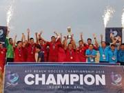 Le Vietnam remporte le Championnat de football de plage de l'ASEAN