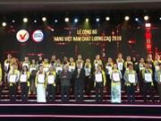 Le certificat « Produits vietnamiens de haute qualité 2019 » remis à 524 entreprises