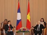 Le leader du PCV et président Nguyên Phu Trong loue l'amitié spéciale Vietnam-Laos