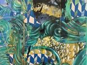 Un peintre vietnamien expose l'art abstrait à New York (Etats-Unis)