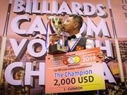 Ma Minh Cam, champion d'Asie de billard carambole à une bande 2019