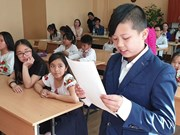 Un concours de langue vietnamienne pour les enfants à Kiev (Ukraine)