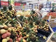 """Le litchi """"thiêu"""" de Luc Ngan vendu dans les supermarchés de Saigon Co.op"""