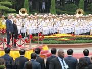 Cérémonie d'accueil en l'honneur du président du Conseil d'État et du Conseil des ministres de Cuba