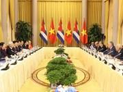 Vietnam-Cuba : entretien entre Nguyên Phu Trong et Miguel Mario Diaz Canel Bermudez