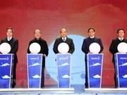 Le PM à la cérémonie d'ouverture des infrastructures majeures à Quang Ninh