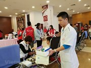 Des milliers de donneurs de sang lors du Dimanche rouge