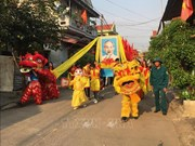 Fête pour une bonne saison de pêche à Canh Duong