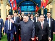 Les premières images du président Kim Jong-un au Vietnam