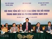 Améliorer l'efficacité des activités diplomatiques en 2019